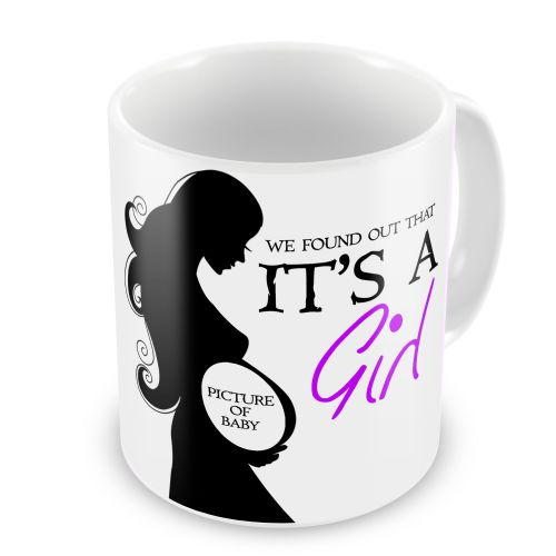 Personalised We Found Out That It's A Girl Novelty Gift Mug